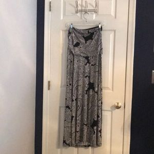 Limited large black and white paisley maxi dress